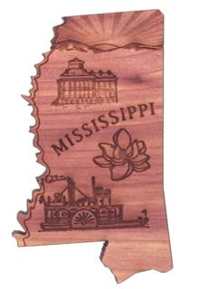 Mississippi shape Magnet